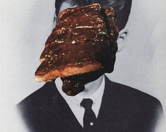 steak ONE-STEP COLLAGE original 18.1cm x 25.4cm