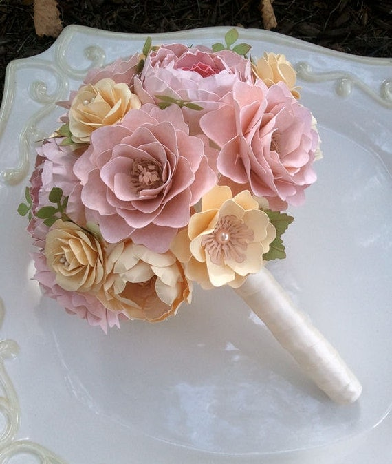 Handmade Paper Flower Bouquet Paper Flowers Wedding