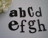 Die Cut Letters DUCT TAPE Black ALPHABET All 26 Letters
