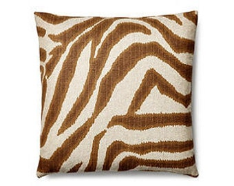 Pillow Cover Cushion  20x20   brown zebra oatmeal background