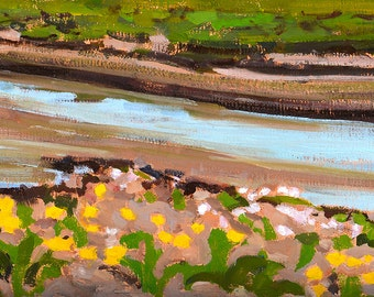 San Diego Landscape Painting- River Wildflowers