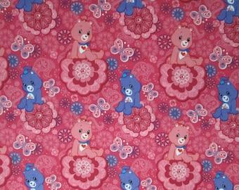 Care Bears on Pink Surgical Scrub Top / X Small - XX Large