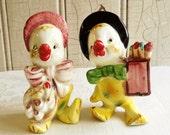 Vintage Anthropomorphic Bird Salt & Pepper Shakers - Mid-Century 1950s