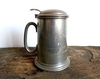 Vintage FBI Beer Mug with Glass bottom