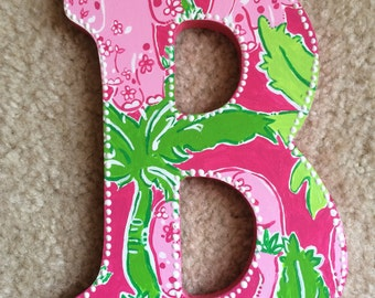 Lilly Pulitzer Inspired Letters - Flamingo Pink Taboo