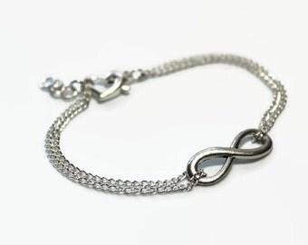 Silver infinity bracelet- bridal bracelet
