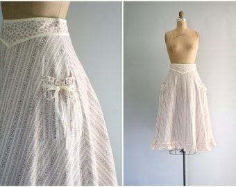 1970s Gunnie Sax prairie skirt - lilac floral print / Wallpaper Calico - vintage 70s / Dolly Kei - kawaii