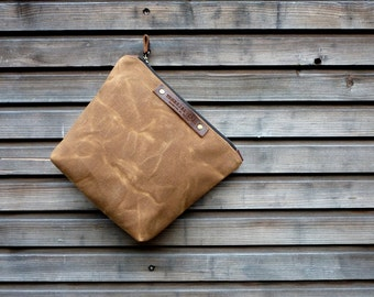 Waxed canvas Dopp kit   shaving bag   toiletries bag