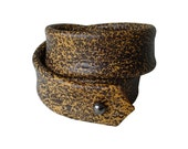 SALE Double Wrap Leather Stacking Bracelets Cuff, Layered Leather Cuff  Bracelet,  Mottled Leather,  Caramel tan & Dark Brown, Women