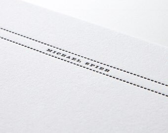 Between the Lines, personalized letterpress stationery, set of 25