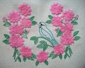 Hello Pretty Bird, Vintage Bird Stitchery