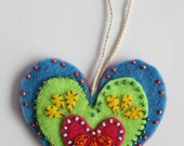 Blue Heart Ornament