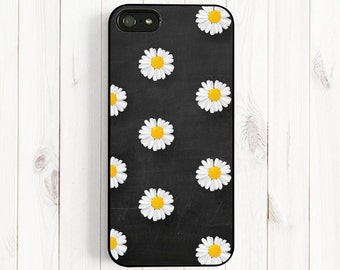 Little Daisy iPhone Case, iPhone 6/6plus Case, iPhone 7 5 5s Case, Samsung Galaxy S5 S4 s3, Note 3 Case, Chalkboard Petite White Daisy UL10