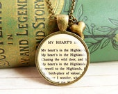 Heart of the Highland - Literature Necklace