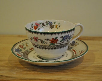 Spode Chinese Rose - Large size tea cup and saucer - 1923-1973 - Mabey