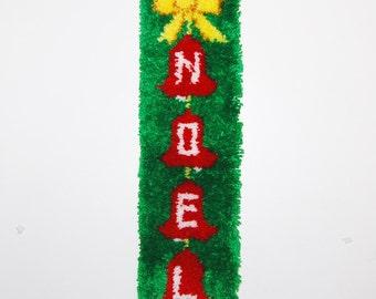 Vintage Christmas Noel Door / Wall Hanging