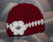 Oklahoma Sooners inspired baby hat  - OU Sooners - photo prop - sports prop  - made to order