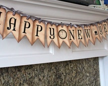 Vintage Inspired Banner - Happy New Year