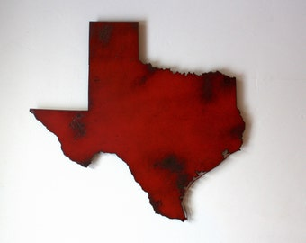 "Texas map metal wall art - 36"" wide - TX wall decor - choose your color - USA art state wall art - dallas austin houston san antonio el paso"