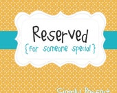 Reserved listing for CeeBeeGator