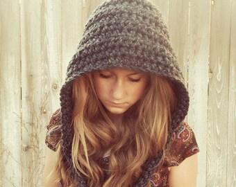 Chunky Crochet Preteen to Women Gnome Hat, Pixie hat,  custom colors