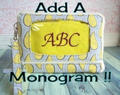 add monogram initials, personalized wristlet or wallet, embroidered letters, wristlet, wallet, cell phone case, cell phone wallet, for gift