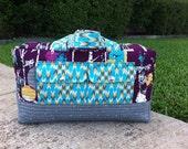 Price includes shipping Cargo Duffle - Carryon Bag - Diaper Bag - Indelible by Katarina Roccella