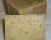 Grapefruit and Tea Tree  Vegan Olive Oil Soap Sea Salt Scrub Bar - Organic Ingredients