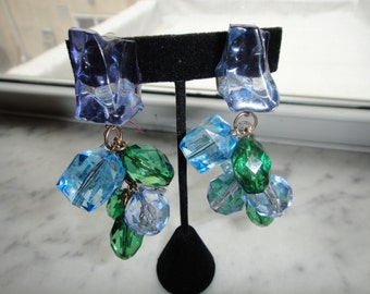 SALE Lucite Assorted Bead Earrings