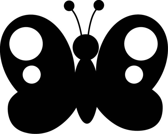Butterfly Vinyl Decal W56