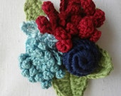 Crochet Boutonnieres & Corsages - crocheted flower ensemble - flower brooch #2