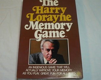 Vintage 1976 - The Harry Lorayne Memory Game By Reiss Games Inc. - Improve Your Memory As You Play