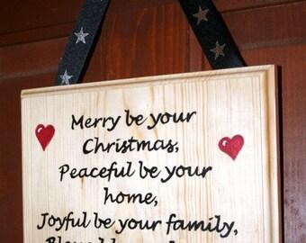 Christmas sign or door hanger