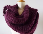 Large Eggplant Mohair Shawl can be wear as a Shrug
