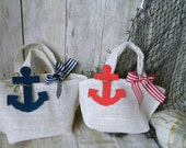 Set 2 bags  Wedding Inspiration Board  Red, White and Navy Blue Nautical, Patriotic colors