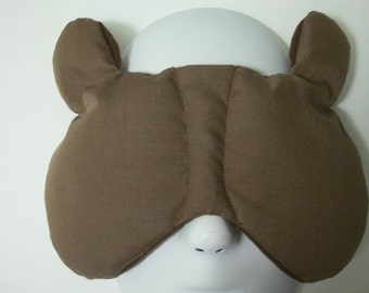Herbal Hot/Cold Therapy Sleep Mask with adjustable and removable strap Do Not Disturb the Bear