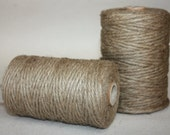 Natural Jute Twine - 1 spool = 110 yards = 100 Meters Natural Color - Eco Friendly - 3 strand