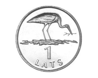 Rare coin - STORK Coin for Luck - Jewelry Making - Scrapbooking - Original Presents - Supplies - Collectibles Coin - Numismatics