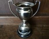 Vintage English blank plain unengraved trophy cup circa 1950's / English Shop