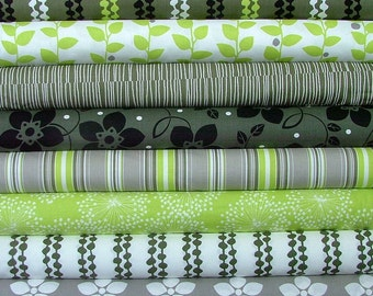 Fat Quarter Bundle of 8 from the Brigitte Collection by Contempo Fabrics of Benartex