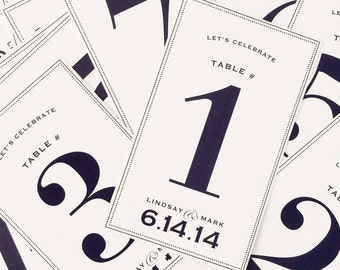 Custom Classic Wedding Wine Label Table as Numbers -Custom Wine Label - Wedding Wine Label
