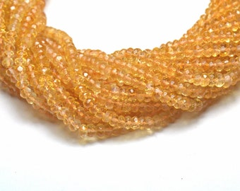 """4mm 13.5"""" Madeira CITRiNE AAA faceted beads CIT010 Sale"""