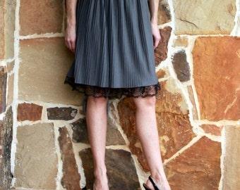 Dress Extender Slip: Ruffled Black Lace