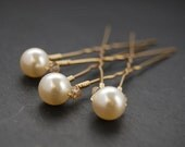 Bridal Hair Pins, Swarovski Pearls, Wedding, Bridal, Hair Accessory, Fashion, LoveandCherish