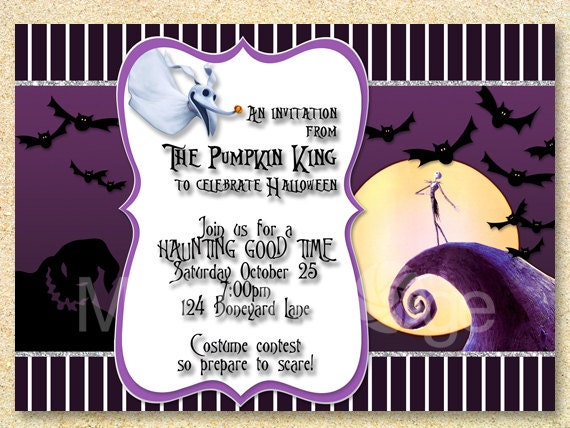 Jack Skellington Invitation Nightmare Before Christmas