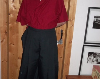 Black Japanese hakama floor length.