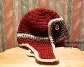 NEW  Pattern - Crochet Aviator Hat -C102 - Instant Download