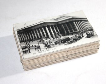 100 Vintage France Black and White Postcards Blank - Travel Themed Wedding Guestbook