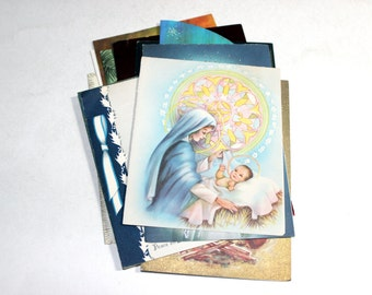 12 Vintage Religious Christmas Cards