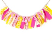 Pink Lemonade Girl's Birthday Party - Rag Banner - Photography Prop